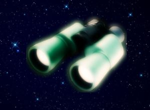 binoculars in space